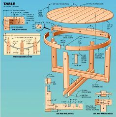 Woodworking plan for table.