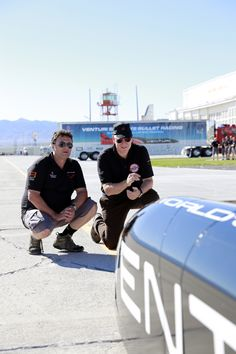 Gildo Pallanca Pastor and #PrinceAlbert in front of the #Venturi #VBB3, the most powerful electric car in the world.