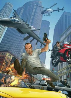 GTA V - video game artwork by Patrick Brown Patrick Brown, Gta V Ps4, Playstation, Xbox 360, Trevor Philips, Grand Theft Auto Series, Grand Theft Auto 4, V Video, Brown Art