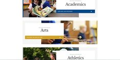 The use of unorthodox layouts in private school website design trends. Pop Website, Private School, Design Trends, Layouts, Learning, Top, Studying, Teaching, Crop Shirt