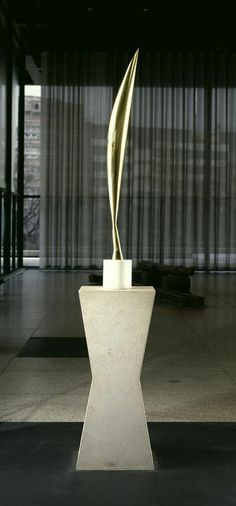 CONSTANTIN BRANCUSI Bird, c. 1940  Polished bronze on marble base and limestone pedestal 101 3/5 in 258 cm