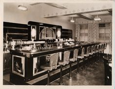 Once considered the place to eat, have ice cream and drink a classic soda, the traditional fountains went on the decline in the 1950s.