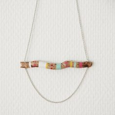 handpainted wooden necklace