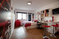 Student rooms at St Augustine's House, Plymouth are much larger than average.