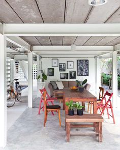 House Plans Cottage Design Ideas For 2019 Living Room Kitchen, Home Living Room, Cottage Design, House Design, Thai House, My Ideal Home, Trendy Home, Simple House, Bali