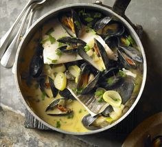 This fish stew from northern France, sometimes called Marmite Dieppoise, is a great comfort food meal