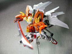 GUNDAM GUY: GUNDAM GUY: READERS FEATURE GUNPLA BUILD - HG 1/144 Gundam Bakuren Oh by Reitou Kokugami