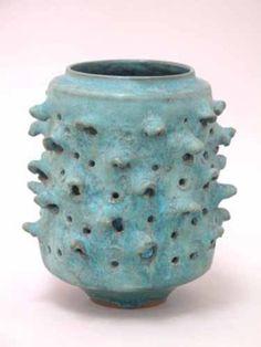 """Gertrud & Otto Natzler Yahrzeit Cup, 1964 Ceramic 7-1/4"""" h x 6"""" d"""