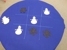 Thrive After Three - Felt Tic Tac Toe Table Game