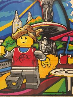 new lego store window on 23rd and 5th ave