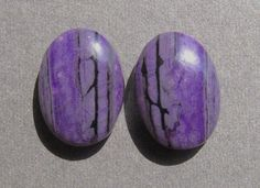 Distinctive Sugilite Matched Cabochon Pair by dmargocr on Etsy