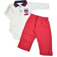 Conjunto bebê menino body polo com calça em suedine Mini & Kids. Moda bebê, Moda Infantil, Roupas de Bebê, roupas Infantis, Fashion Baby, Fashion Kids, bebê roupas, roupas de bebê. www.boobebe.com.br