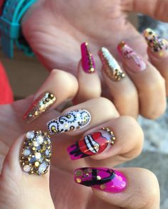 coffin nails ping gold swag