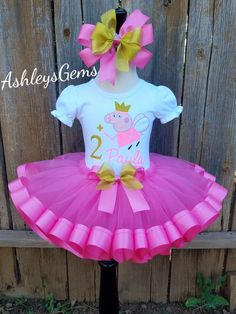 5691f37f3315 Peppa Pig Birthday Outfit, Peppa Pig Tutu, Peppa Pig Dress, Peppa Pig Tutu  Set, Peppa Pig Tutu Dress, Peppa Pig Tutu Outfit, Peppa Pig Shirt