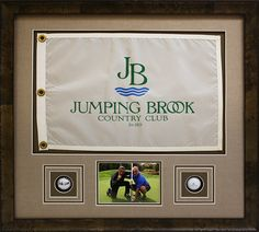 Great gift idea for your father or husband!  Custom framed golf flag with golf balls for any birthday or anniversary.  Custom designed in a shadowbox by Art and Frame Express in Edison NJ.