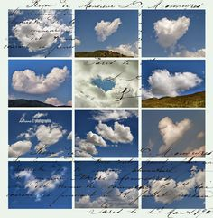 Valentine's Day - Clouds for sale / Fine Art Photography by Daliana PacuraruFeatured in 'CLOUDS Always the same but never the same ' groupFeatured in 'Cards For All Occasions' group Large Art, Different Colors, Heart Shapes, Illustrators, Fine Art America, Collage, Clouds, Graphic Design, Art Prints