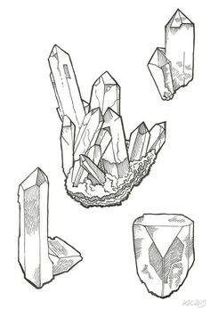 how to draw crystals - Google Search (Cool Sketches To Draw)