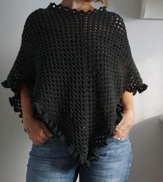 NoMimikry: Häkelponcho mit Anleitung - crochet poncho with pattern