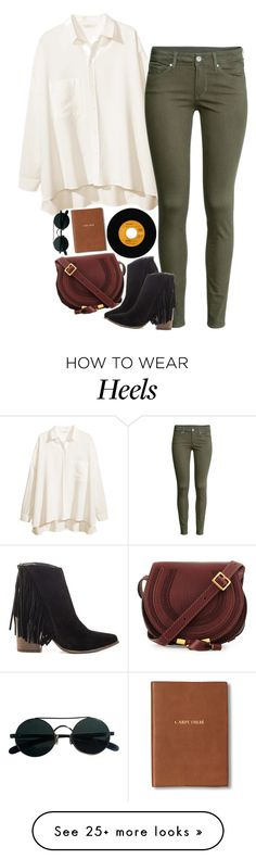 """Kate"" by sisistyle on Polyvore featuring H&M, Steve Madden, Chloé and Monica Rich Kosann"