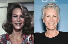 Actors of the Then and now -- Jamie Lee Curtis -- Tony Curtis, Jamie Lee Curtis, Actors Then And Now, Then And Now Photos, Celebrities Then And Now, Janet Leigh, Old Movie Stars, Classic Movie Stars, Santa Monica
