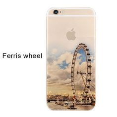 Ultra Thin Soft Silicon Landscape Cover Cases For iPhone 5s 7 6 6S
