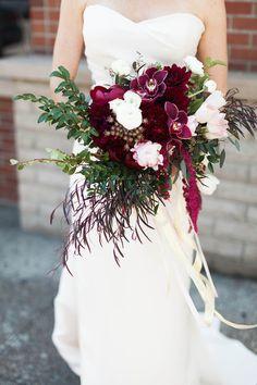Burgandy bridal bouquet
