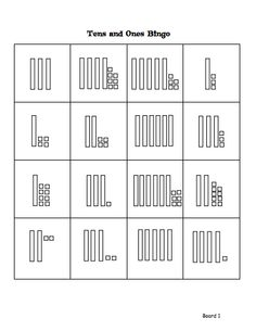 Here's a set of 10 different boards for playing place value BINGO.