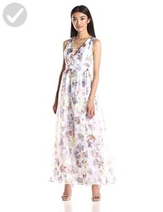 BCBGeneration Women's Floral Embroidered Gown, Multi Color Combo, 2 - All about women (*Amazon Partner-Link)