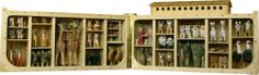 Hand-Carved Noah's Ark with Human and Animal Figures