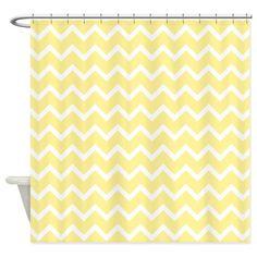 Light Yellow Zigzags. Shower Curtain on CafePress.com