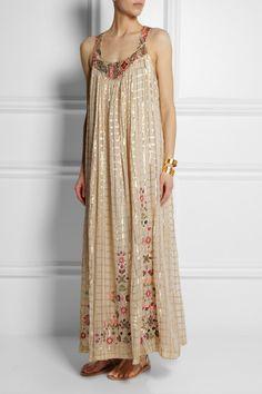 Embroidered voile maxi dress Vineet Bahl $625 www.net-a-porter.com