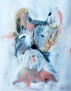 Finger painted dog by Carla Sonheim.