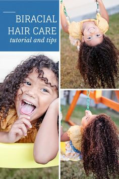 Mixed Hair Care: Tips for biracial hair care and a step-by-step guide to getting beautiful moisturized curls. Teach your daughters to love their natural hair. Natural hair care for kids.