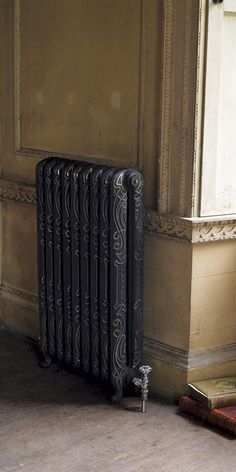 The Orleans Traditional Cast Iron Radiator. Radiators Uk, Column Radiators, Cast Iron Radiators, Traditional Radiators, Art Nouveau Pattern, Vintage Interiors, Architectural Antiques, Plates On Wall, Contemporary Style