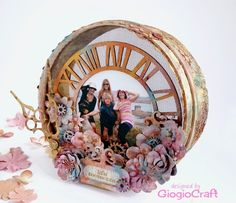 Upcycled shabby-chic wooden sieve