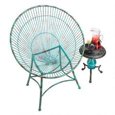 Saint-Tropez Sculptural Metal Hoop Garden Chairs: Set of Two
