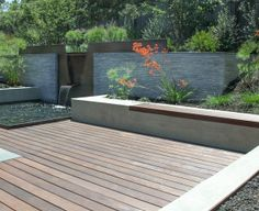 Copper water Feature in Los Altos, CA designed by Thuilot Associates and built by Iron Grain
