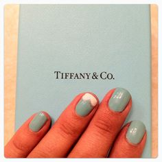 Tiffany blue nails, my life is complete