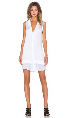 State of Being Ash Shirtdress in White | REVOLVE