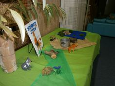Wombat Stew story table Play Based Learning, Learning Through Play, Preschool Literacy, Preschool Crafts, Preschool Ideas, Kindergarten, Animal Activities, Book Activities, Wombat Stew