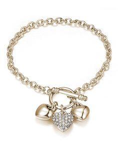 Swarovski + Gold Heart Toggle Bracelet ♡
