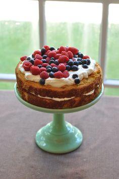 Coconut Vanilla Cake by Salt and Twine - gluten free, grain free, dairy free, GAPS, Paleo, Clean Eating