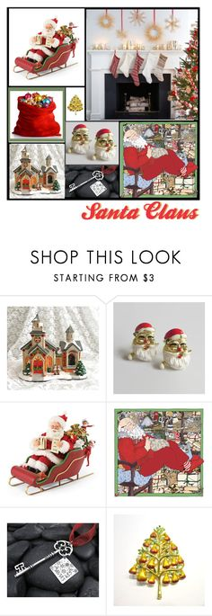 """""""Santa Claus"""" by anna-ragland ❤ liked on Polyvore featuring Improvements, Christopher Radko and vintage"""