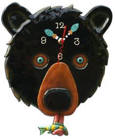 Allen Designs Kodiac (Bear) Pendulum Clock