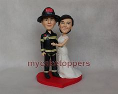 wedding Cake toppers firefighter custom cake by dealeasynet, $120.00