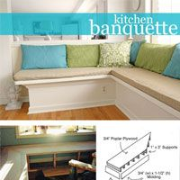 Step-by-step photo tutorial on how to build and make a banquette in your home | In My Own Style.com