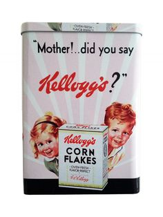 *Archives* Kelloggs Vintage Cereal Tin