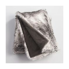 Cost Plus World Market Gray Faux Fur  Throw ($60) ❤ liked on Polyvore featuring home, bed & bath, bedding, blankets, brown, faux fur throw, brown blanket, grey faux fur throw, fake fur blanket and grey throw blanket