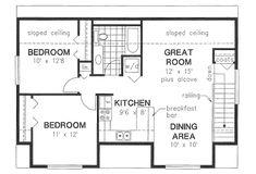 Bungalow Style House Plan - 2 Beds 1 Baths 928 Sq/Ft Plan #18-4520 Floor Plan - Upper Floor Plan - Houseplans.com