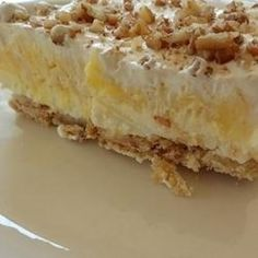 Moms Texas Delight - a beautiful dessert to bring to gatherings, It is elegant and delicious. Everyone will want the recipe. This is not your ordinary pudding dessert!
